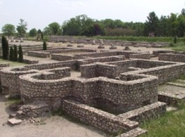 All roads are leading to Rome: remains of a Roman settlement